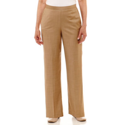 Alfred Dunner Emerald Isle Woven Flat Front Pants