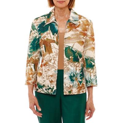Alfred Dunner Emerald Isle Shirt Jacket-Petites