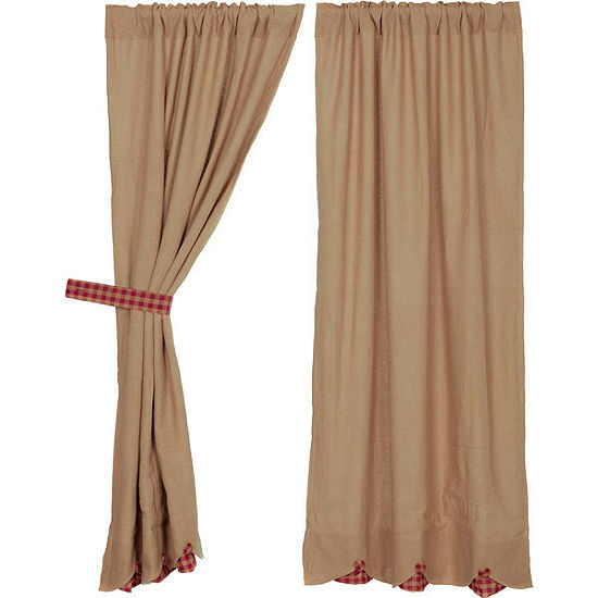 VHC Brands Burlap with Check Window Treatments