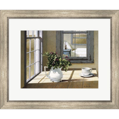 Metaverse Art Morning Coffee Framed Print Wall Art