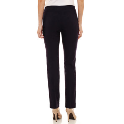 Liz Claiborne Pocket-Trim Pull-On Pants-Petites
