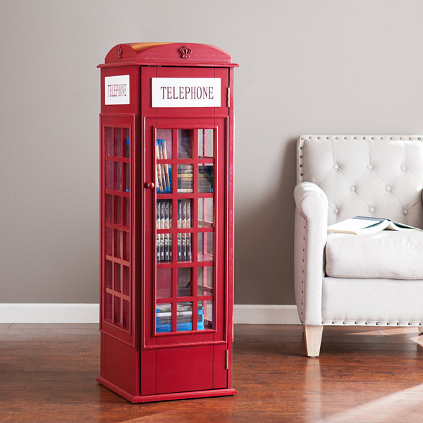 Phone Booth Accent Cabinet