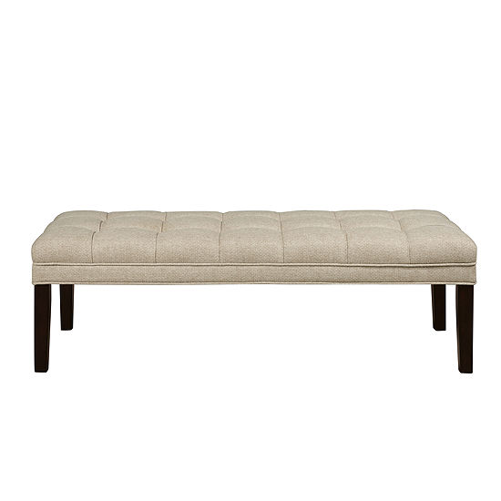 Upholstered Biscuit Tufted Bed Bench