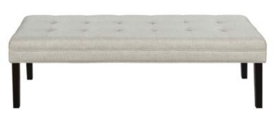 Linen-Like Modern Tufted Bed Bench