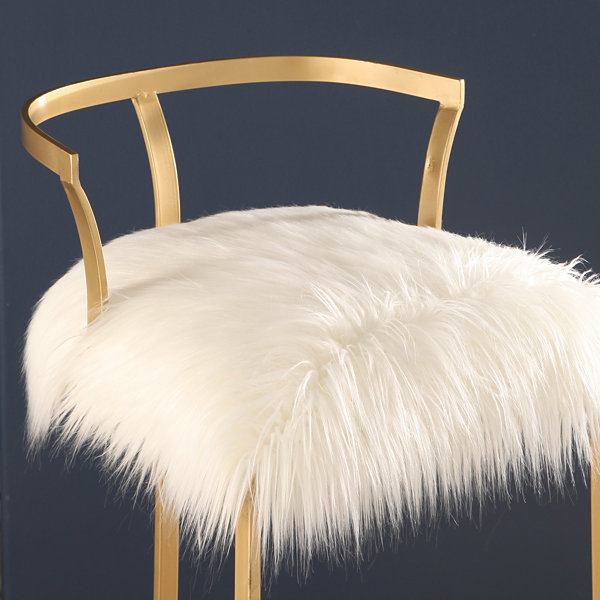 DEVON & CLAIRE ZOEY FAUX FUR BAR STOOL