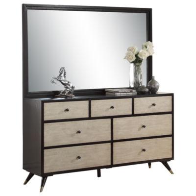 Devon & Claire Sir Paul Mid Century 7-Drawer Dresser And Mirror