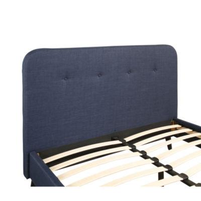 Devon & Claire Tyler Blue Mid Century UpholsteredPlatform Bed