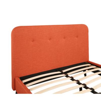 Devon & Claire Tyler Orange Mid Century Upholstered Platform Bed