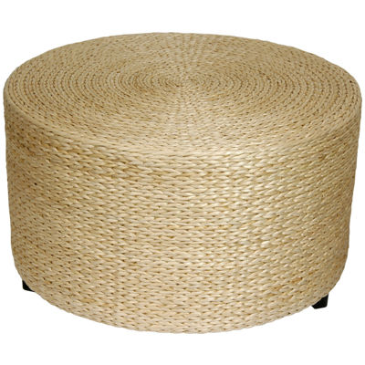 Oriental Furniture Woven Rush Grass Coffee Table