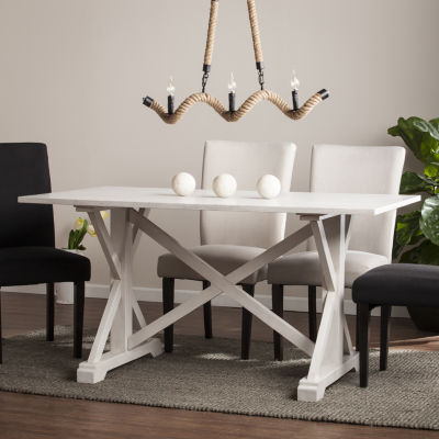Wooden Door Kitchen Distressed Farmhouse Dining Table