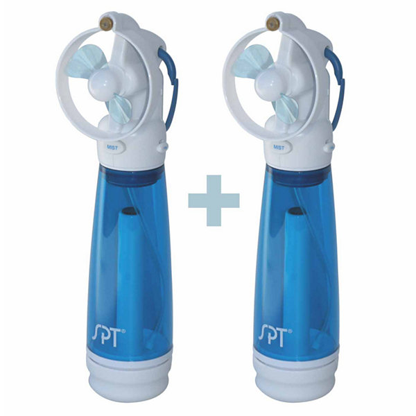 SPT SF-241WM: Personal Hand-Held Misting Fan (Set of 2)