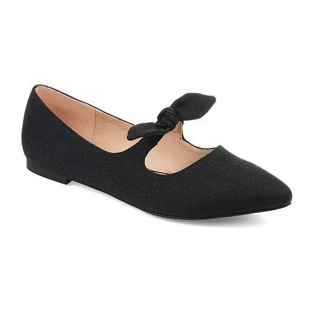 Retro Vintage Flats and Low Heel Shoes Journee Collection Womens Martina Slip-On Shoe Pointed Toe 7 Medium Black $59.99 AT vintagedancer.com