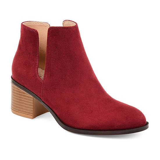 1b8dbabba9830 Journee Collection Womens Vianne Booties Stacked Heel Slip-on - JCPenney