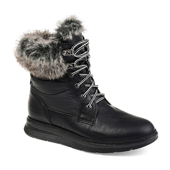 Journee Collection Womens Flurry Water Resistant Snow Boots Lace-up