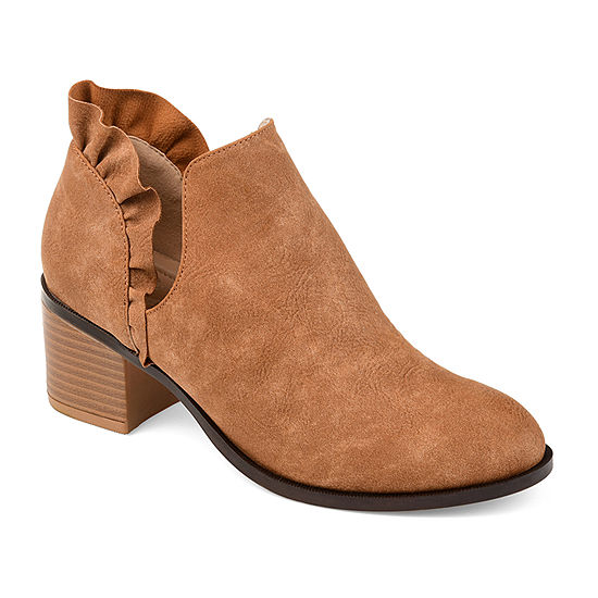 b41a9401d2503 Journee Collection Womens Lennie Booties Stacked Heel Slip-on - JCPenney