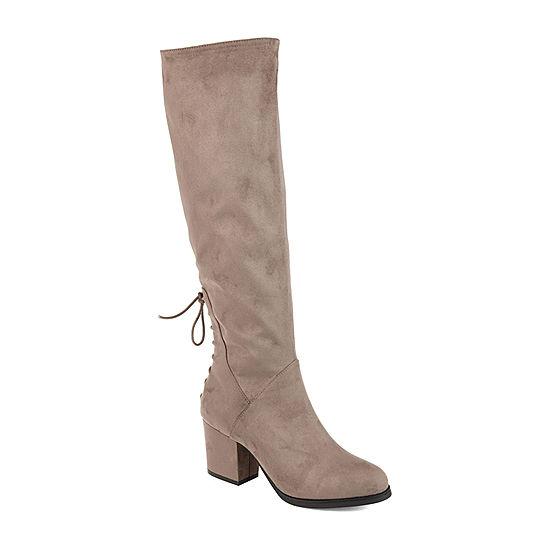 81765832dc0a Journee Collection Womens Leeda Extra Wide Calf Riding Boots Block Heel Zip  - JCPenney