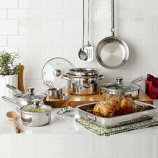 Cooks 21-Piece Stainless Steel Cookware Set