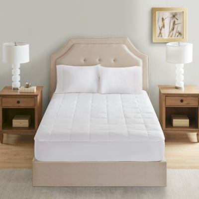 Sleep Philosophy 300 Thread Count Cotton Antimicrobial Mattress Pad