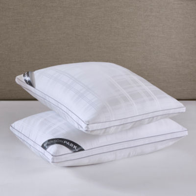 Madison Park 525 Thread Count Cotton Rich Down Alternative Bed Pillow 2-Pack