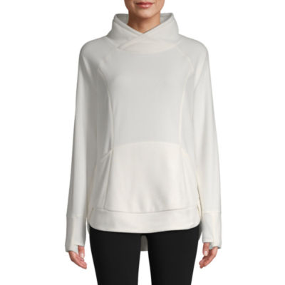 St. John's Bay Active Womens High Neck Long Sleeve Sweatshirt
