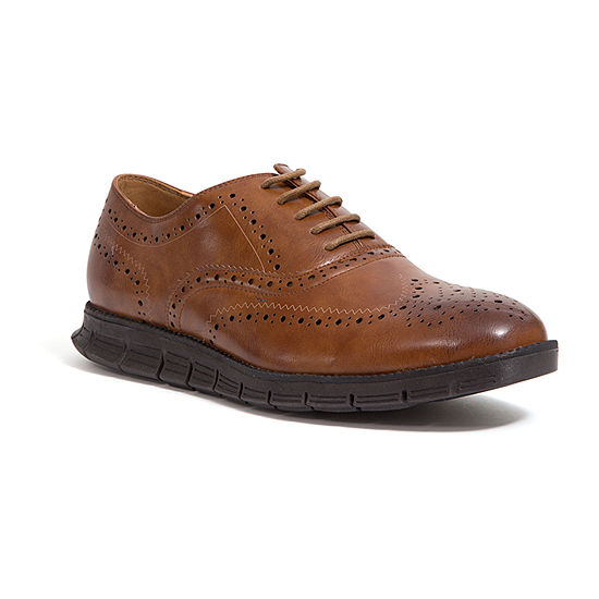 Deer Stags Mens Benton Lace-up Wing Tip Oxford Shoes