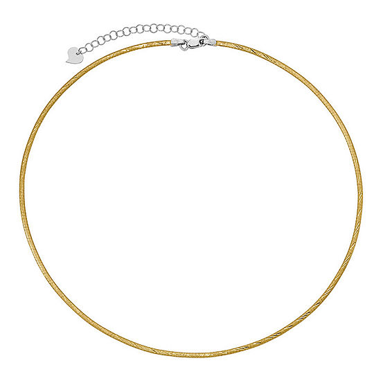 14K Two Tone Gold 16 Inch Omega Chain Necklace