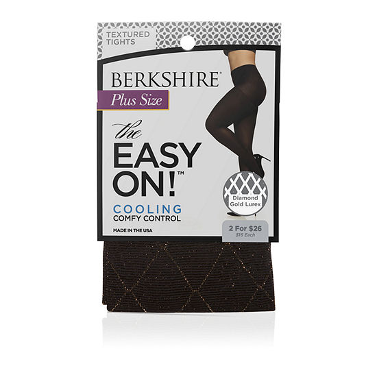 Berkshire Hosiery Diamond Gold Lurex Tights-Plus