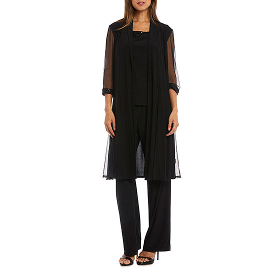 R & M Richards 3-pc. Pantsuit with Waterfall Duster-Petite