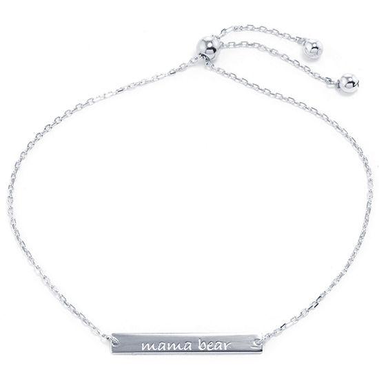 Silver Treasures Silver Tone Sterling Silver Bolo Bracelet