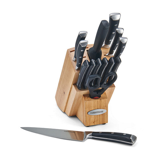 Farberware Forged Triple Rivet Cutlery 15-pc. Knife Block Set