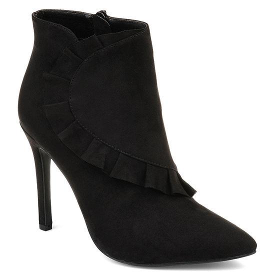 Journee Collection Womens Cress Stiletto Heel Zip Booties