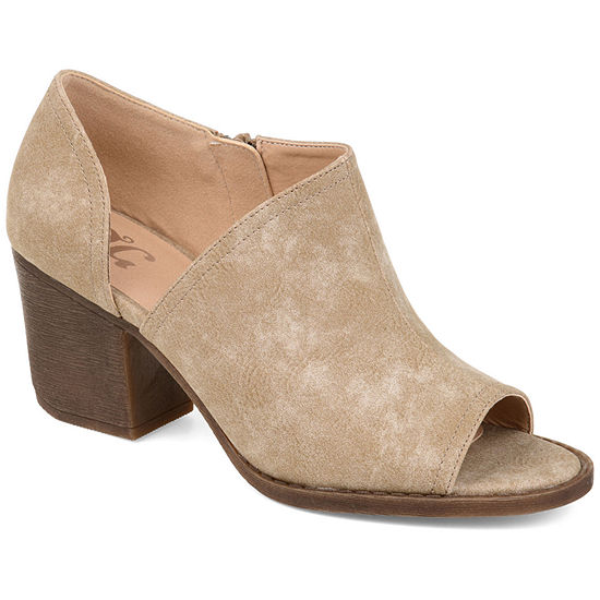 Journee Collection Womens Hartli Booties Stacked Heel Zip