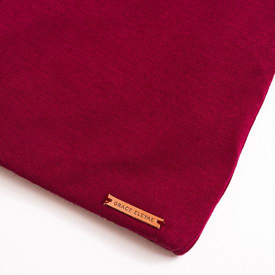 Grace Eleyae Wine Adjustable Slap | Satin Lined Cap Sleep Caps