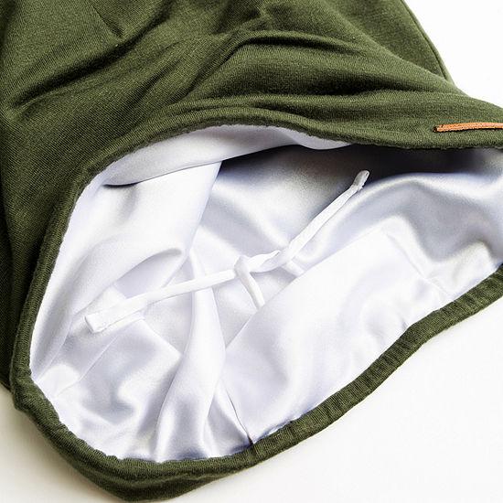 Grace Eleyae Olive Adjustable Slap | Satin Lined Cap Sleep Caps