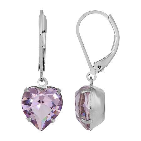 1928 Drop Earrings, One Size , Purple
