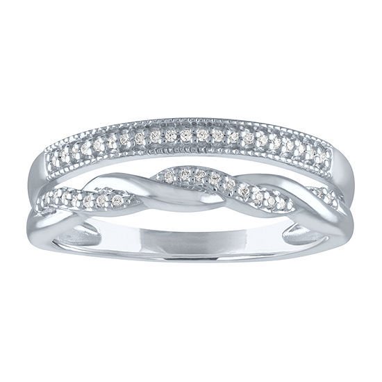 LIMITED TIME SPECIAL! Womens 1/10 CT. T.W. Genuine Diamond Sterling Silver Ring Sets