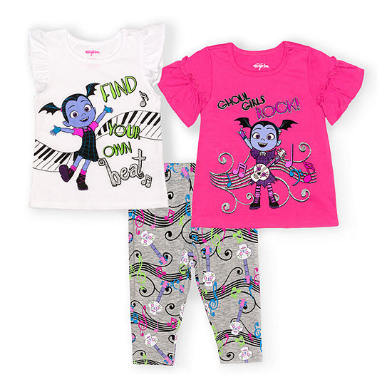 Disney Collection Toddler Girls 3-pc. Vampirina Legging Set