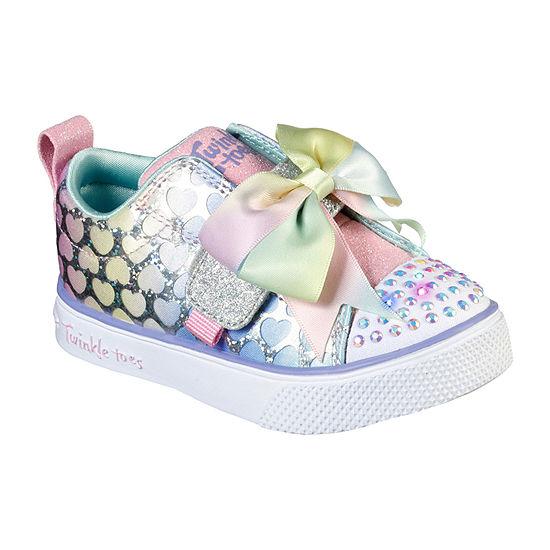 Skechers Twinkle Breeze 2.0 -Hearts Glitz Toddler Girls Sneakers