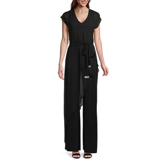 MSK Short Sleeve Belted Jumpsuit