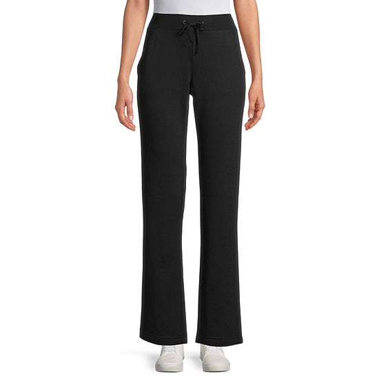 St. John's Bay Womens Mid Rise Straight Drawstring Pants - Tall