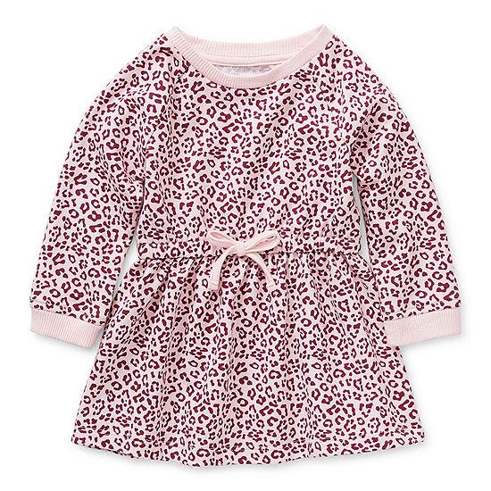 Okie Dokie Baby Girls Long Sleeve Knit Dress
