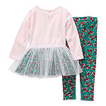 Youngland Toddler Girls 2-pc. Legging Set