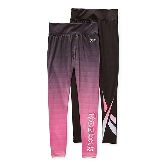 Reebok Big Girls 2-pc. Full Length Leggings