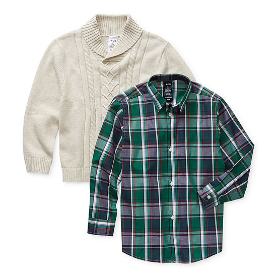 IZOD Little & Big Boys Knit Sweater Set
