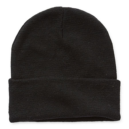 St. John's Bay Mens Beanie, One Size , Black