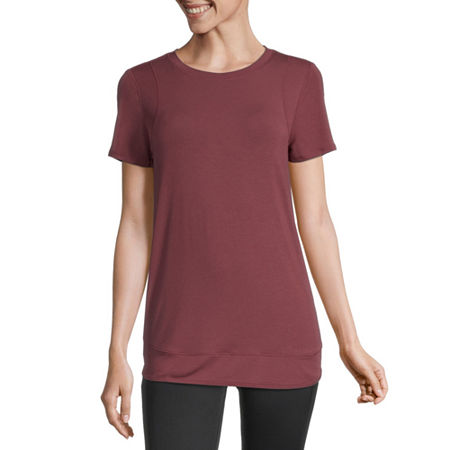 Xersion Womens Round Neck Short Sleeve T-Shirt, Small , Red