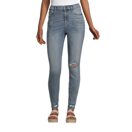 a.n.a. Womens High Rise Eco Sculpt Jegging, 6 , Blue