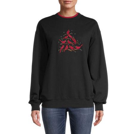 Mc2 Womens Crew Neck Long Sleeve Sweatshirt, Xx-large , Black