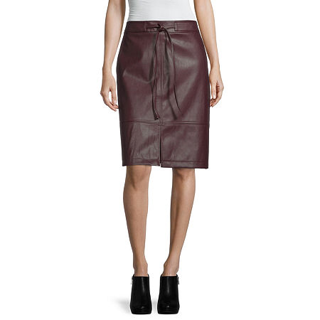 Liz Claiborne Womens Mid Rise A-Line Skirt, 2 , Red
