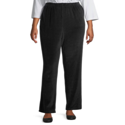 Alfred Dunner Modern Living Womens Straight Pull-On Pants